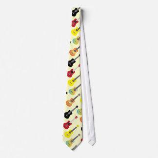 Colorful Ukulele Patterns Music Tie