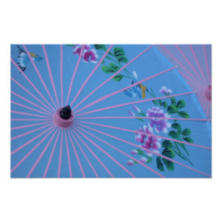 Colorful Umbrella Poster
