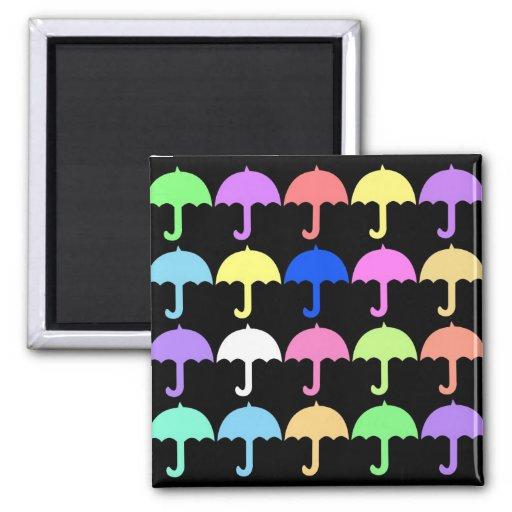 Colorful Umbrellas Fridge Magnet