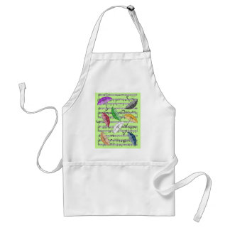Colorful Umbrellas With Sheet Music Background Standard Apron