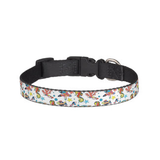 Colorful Underwater Sea Life Pattern Pet Collar