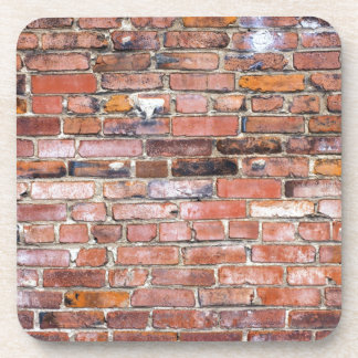 Colorful uneven brick wall drink coaster
