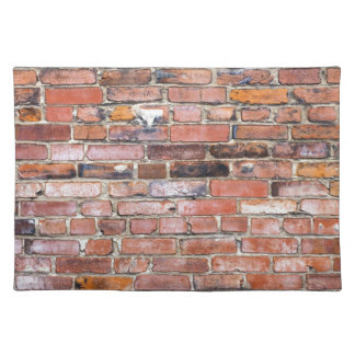 Colorful uneven brick wall place mats