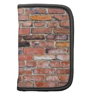 Colorful uneven brick wall folio planner