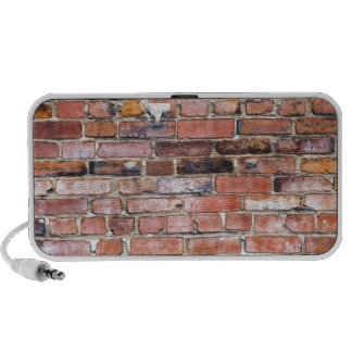 Colorful uneven brick wall notebook speakers