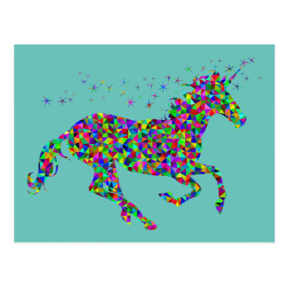 Colorful Unicorn Postcard