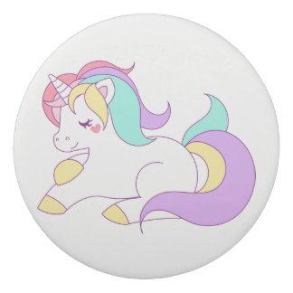 Colorful Unicorn Print Eraser