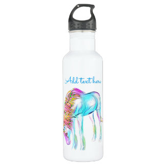 Colorful unicorn water bottle