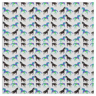 Colorful unicorns fabric