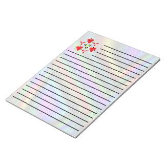 Colorful unique line pattern notepad