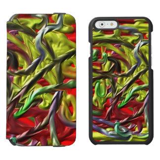 Colorful unique strange pattern incipio watson™ iPhone 6 wallet case