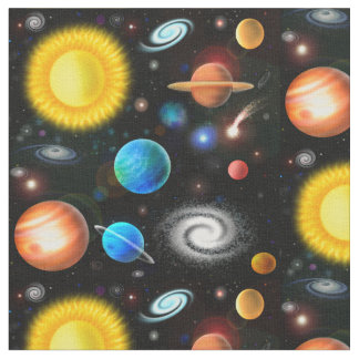 Colorful Universe Astronomy Space Fabric