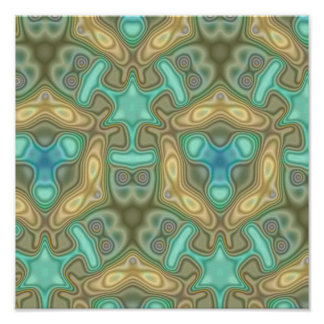 Colorful unusual pattern poster