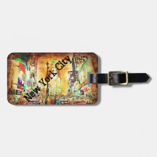 Colorful Urban Grunge New York City Custom Luggage Tag