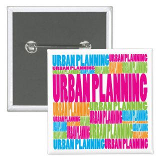 Colorful Urban Planning 15 Cm Square Badge