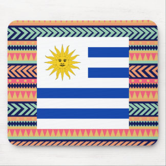Colorful Uruguay Flag Box Mouse Pad