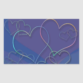 Colorful Valentine Sweethearts Love Designer Rectangular Stickers