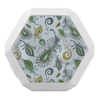 Colorful Various Feathers White Boombot Rex Bluetooth Speaker