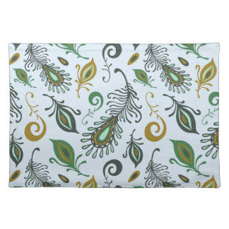 Colorful Various Feathers Placemat