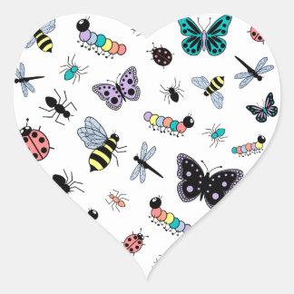 Colorful Vector Bugs Butterflies Sticker