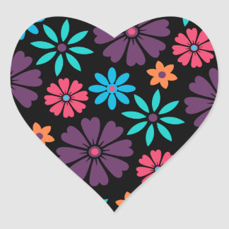 Colorful Vector Flower Pattern Stickers