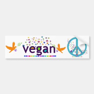 Colorful Vegan Bumper Sticker