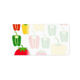 Colorful Vegetables. Label