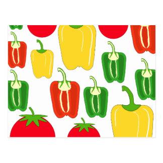 Colorful Vegetables. Postcard