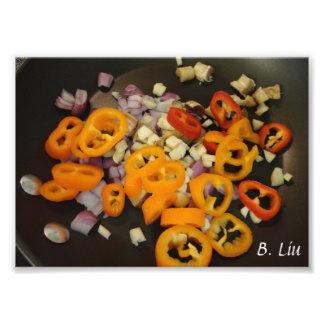 Colorful Veggies Vegetable Saute Photo Art Print