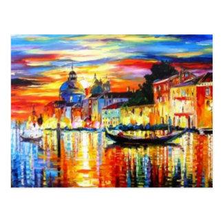 Colorful Venice Postcard