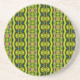 Colorful vertical pattern coaster