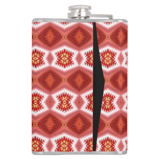 Colorful vertical pattern hip flask