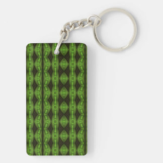 Colorful Vertical pattern Double-Sided Rectangular Acrylic Key Ring