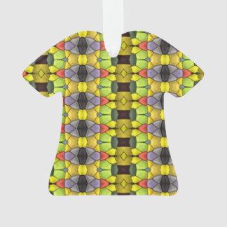 Colorful vertical pattern ornament