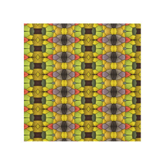 Colorful vertical pattern wood wall art