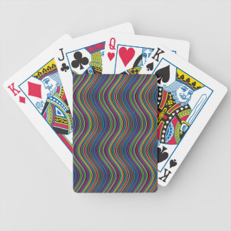 Colorful vertical waves bicycle playing cards