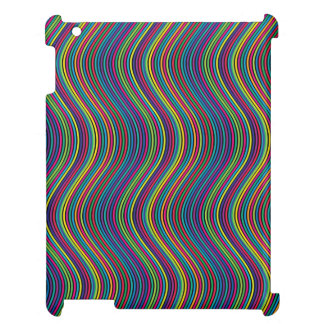 Colorful vertical waves cover for the iPad 2 3 4