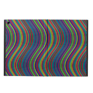 Colorful vertical waves iPad air cover