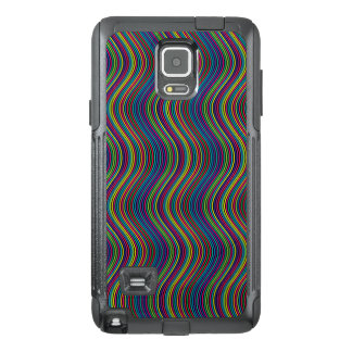 Colorful vertical waves OtterBox samsung note 4 case