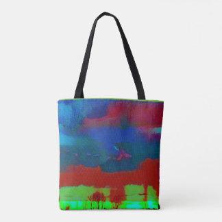 Colorful Vibrant Abstract Horizon Sky Tote Bag