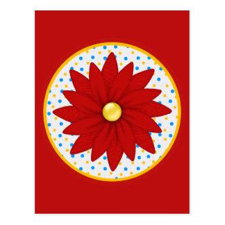 Colorful Vibrant Flower Postcard
