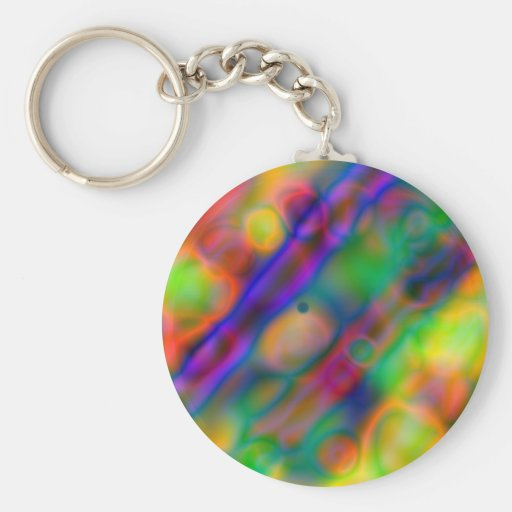 Colorful vibrant shapes (1) keychain