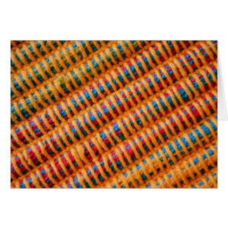 Colorful Vibrant Woven Threads Greeting Card