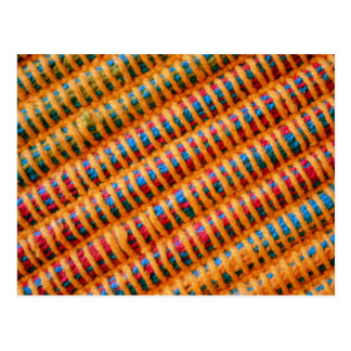 Colorful Vibrant Woven Threads Postcard