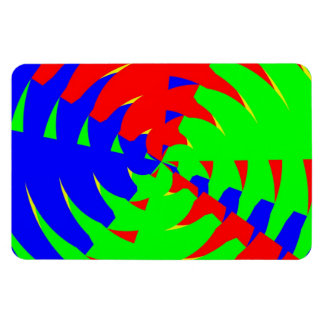 Colorful vibrations rectangular magnets