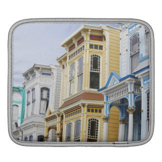 colorful Victorian home in Mission District iPad Sleeve