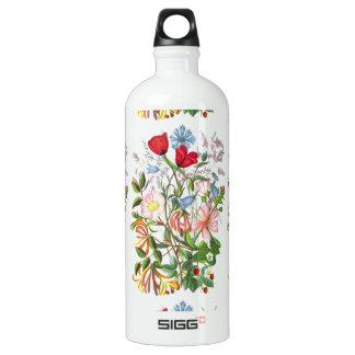 Colorful Vintage Bouquet Art Water Bottle