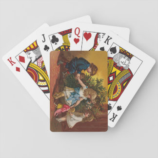 Colorful vintage Christmas games deck Playing Cards