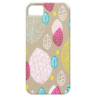 Colorful vintage fall leaves pastel garden iPhone 5 cover