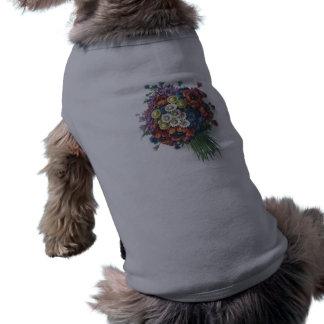 Colorful Vintage Floral Bouquet Pet Shirt